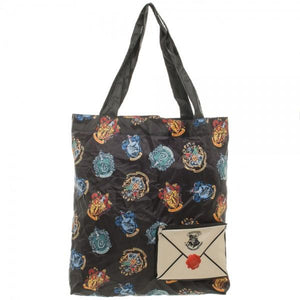 Harry Potter Crest Packable Tote Bag