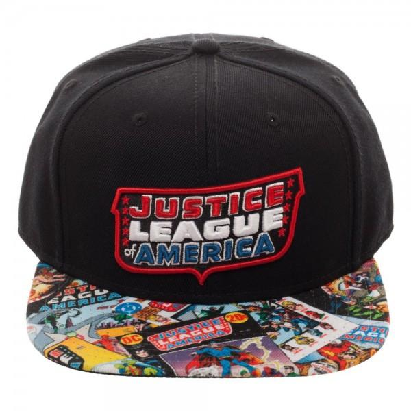 Justice League Of America Sublimated Bill Cap