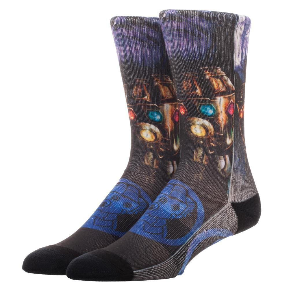 Thanos with the Infinity Gauntlet Sublimated Printed Crew Socks
