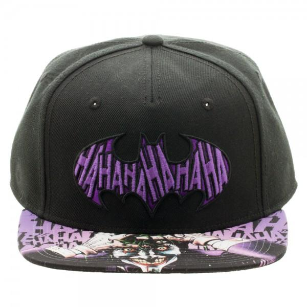 Batman/Joker Sublimated Bill Snapback Cap