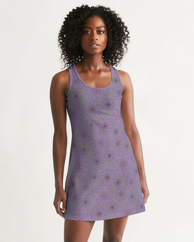 Flower Star Grape Blossom Women's Racerback Dress