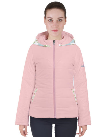 Floral Party Pink Women's Puffer Jacket