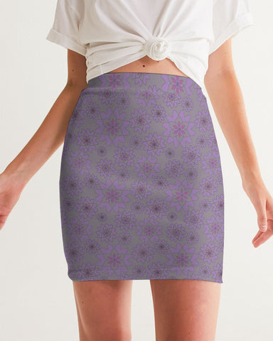 Flower Star Grape Blossom Women's Mini Skirt