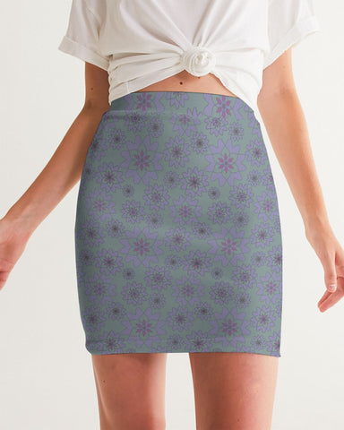 Flower Star Water Berry Women's Mini Skirt