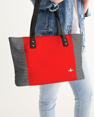 DBS Diamond Outline Red Stylish Tote