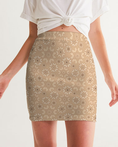 Flower Star Peach Wash Women's Mini Skirt