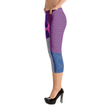 Flower Diamond Capri Leggings - Designs By Sengbe
