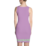 Fashion Face purple Dress - Designs By Sengbe