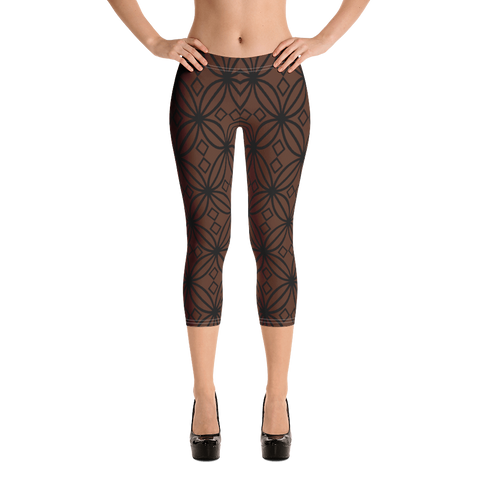 DBS Diamond coco Capri Leggings - Designs By Sengbe