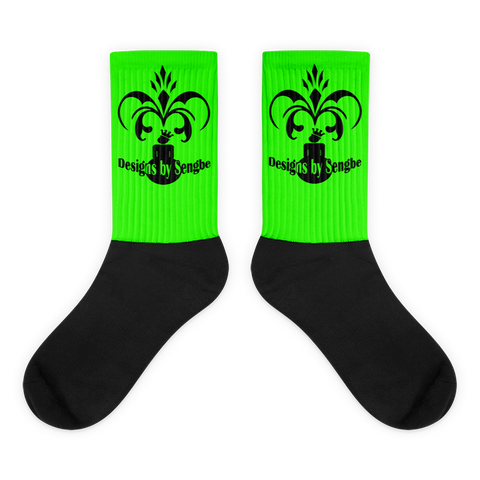 Royal Sengbe socks lime - Designs By Sengbe