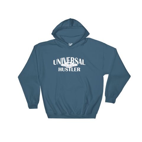 Universal Hustler white inc Hoodie - Designs By Sengbe