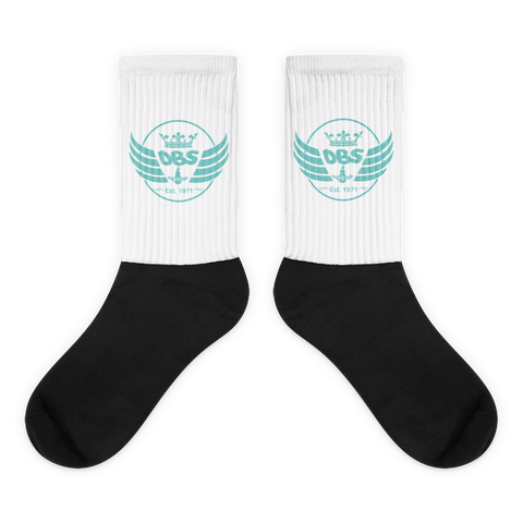 DBS Circle socks blue - Designs By Sengbe