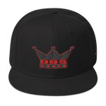 DBS The Crown Hat black and red stitch