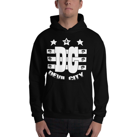Devil City New Flag Hoodie white ink