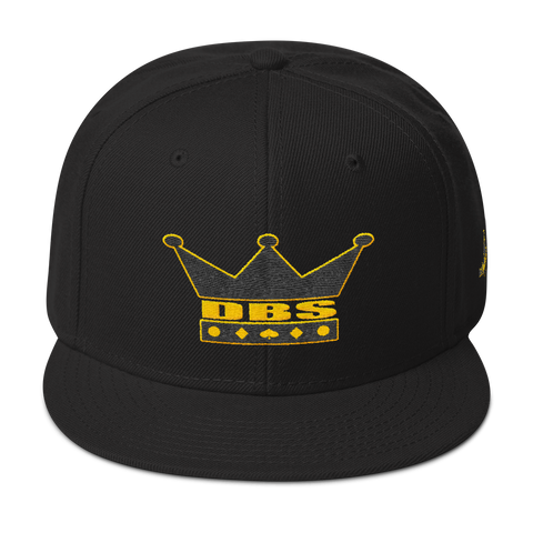 DBS The Crown Hat black and yellow stitch