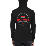 Certified Organic white&red ink zip hoodie - Designs By Sengbe