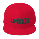 All Star Hood Snapback black&green stitch