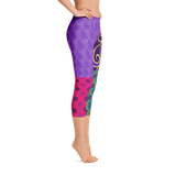 More Purple Capri Leggings - Designs By Sengbe