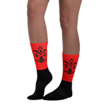 Royal Sengbe socks red - Designs By Sengbe
