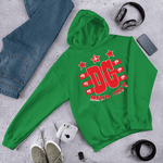 Devil City New Flag Hoodie red & white ink