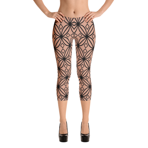DBS Diamond Nude Capri Leggings - Designs By Sengbe