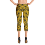DBS Diamond gold Capri Leggings - Designs By Sengbe