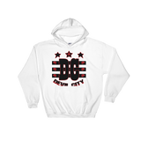 Devil City New Flag Hoodie black & red ink