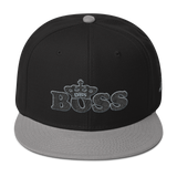 DBS Boss Snapback Cap Gray & Black stitch