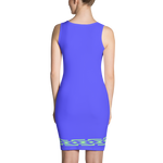 Fashion Face blue Dress - Designs By Sengbe