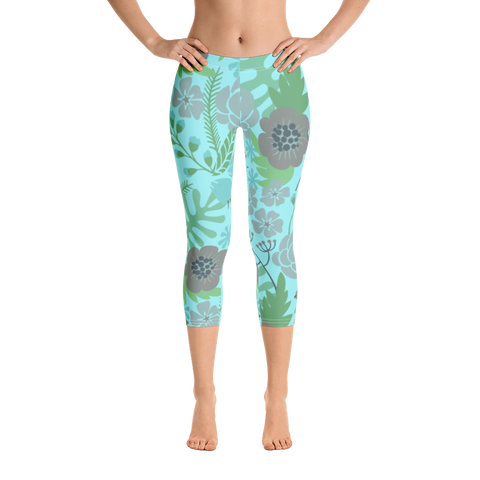 Flower Show 2 Capri Leggings