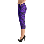 DBS Diamond purple Capri Leggings