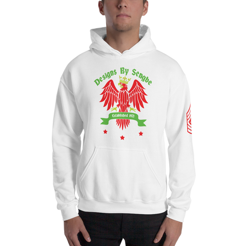 King Bird Hoodie red&green - Designs By Sengbe
