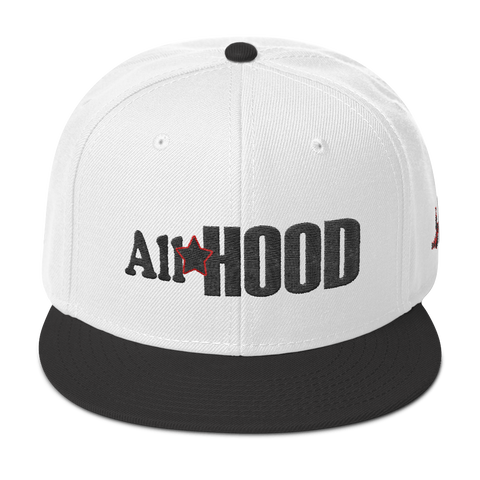 All Star Hood Snapback black&red stitch