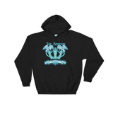 The Kingdom The Crown blue ink  Hoodie - Designs By Sengbe