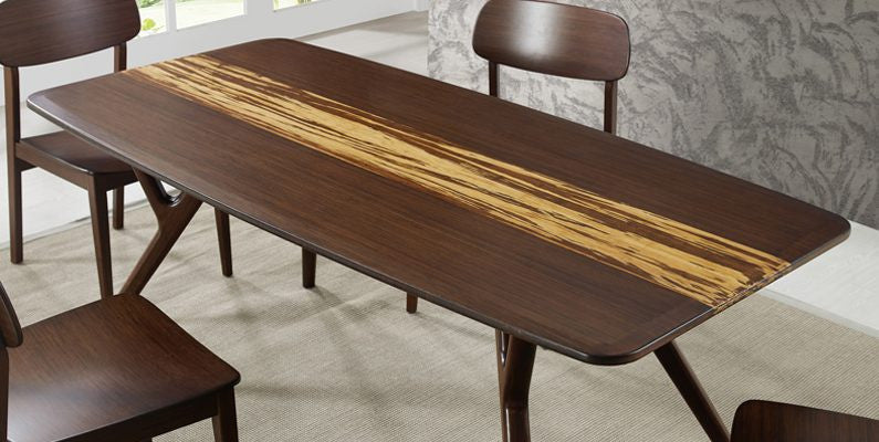 Azara Dining Table Carameized finish