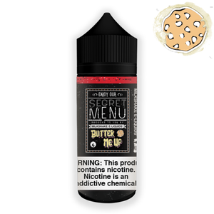 Secret Menu E-liquids Butter Me Up 100ML 6MG Vape Juice Caramel