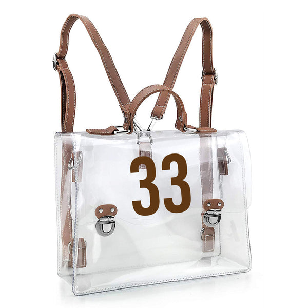 Maurie Clear Stadium Approved Bag (Customizable - Stadium Approved)