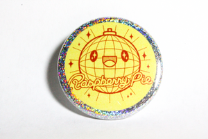 Disco Ball Pin WITH HOLOGRAPHIC BORDER!