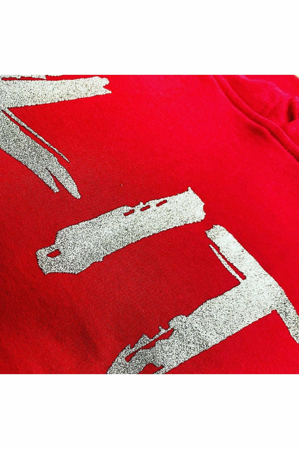 50 T-Shirts with a ONE COLOR Silver Glitter Print
