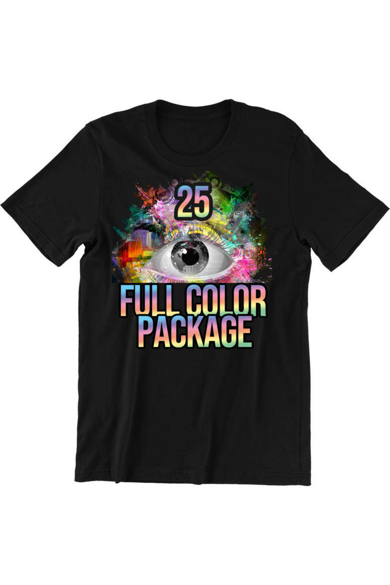 25 Full Color DTG Short Sleeve Shirts (FREE SHIPPING)