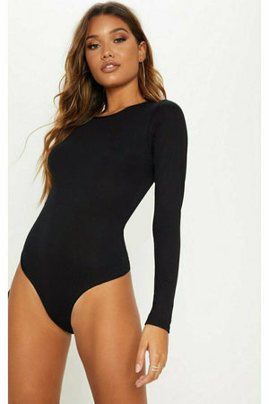 Crew Neck Long Sleeve Bodysuit (24 MOQ)