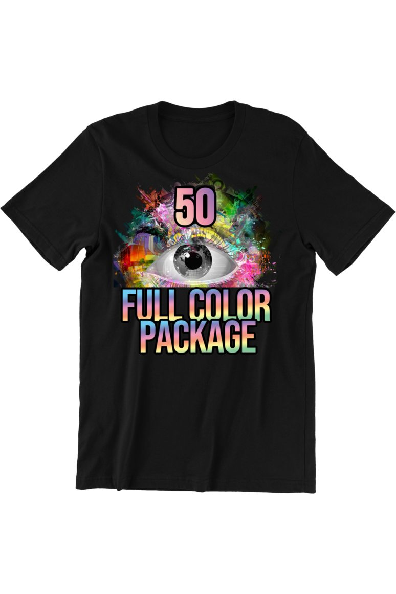 50 Full Color DTG Short Sleeve Shirts (FREE SHIPPING)
