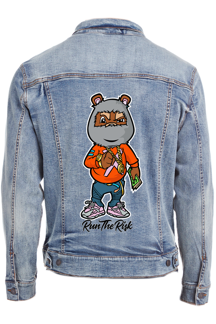 Full Color Denim Jacket Sample