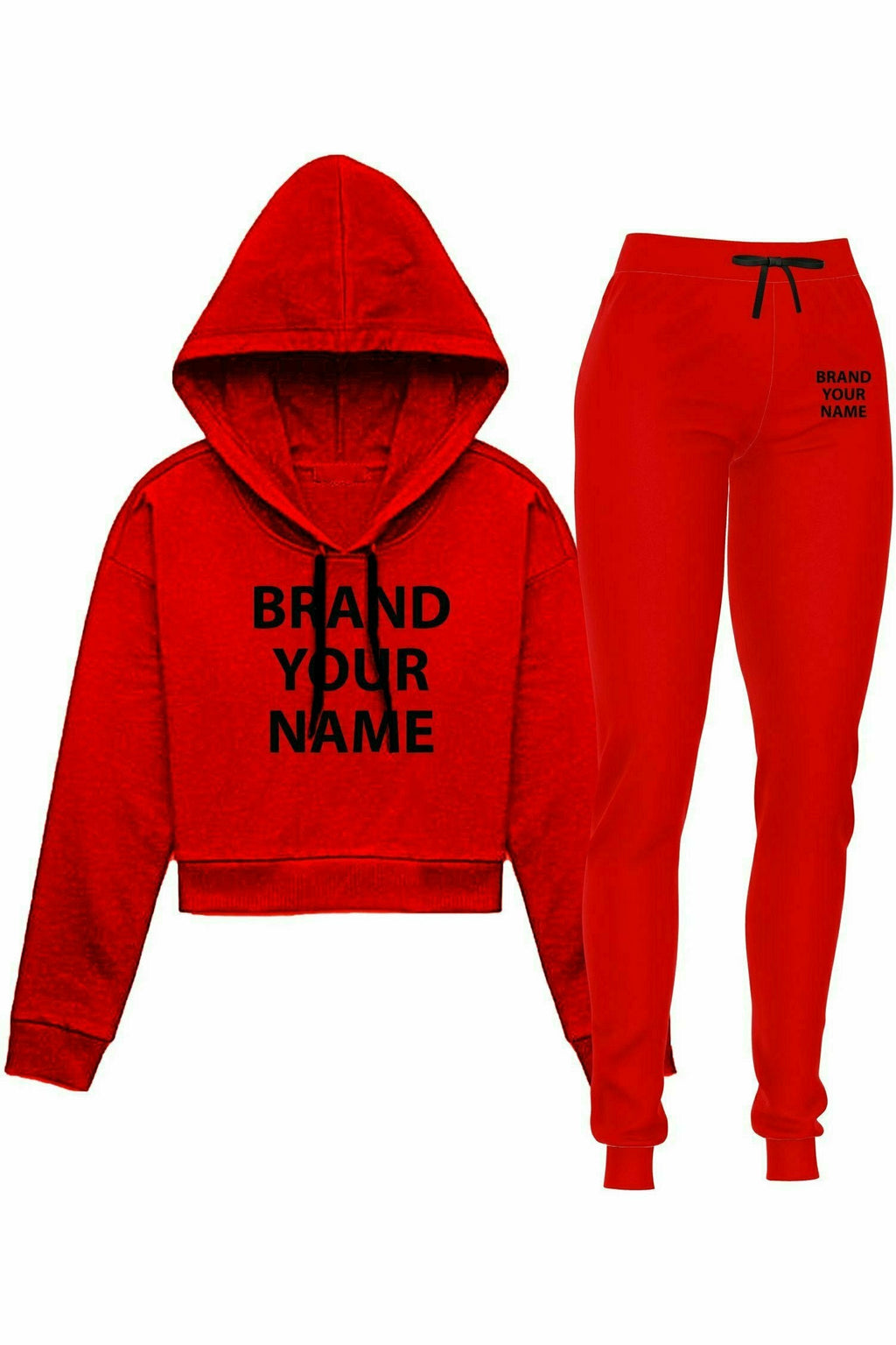 Premium Fleece Crop Hoodie & Sports Joggers (set of 24)