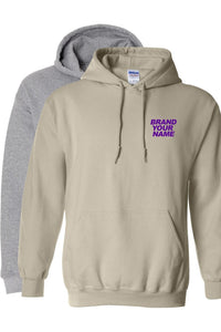 Pre sized Grey & Tan Hoodie package - EMBROIDERED