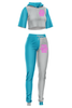 Two Tone Women's Crop Sports Set (24 Sets)