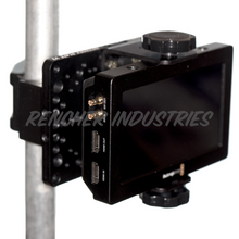 Load image into Gallery viewer, Intersex Plate can be used to attach monitors to speed rail and light stands with a mafer clamp