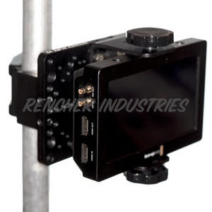 Intersex Plate can be used to attach monitors to speed rail and light stands with a mafer clamp