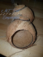 Coconut Hut - Hermit Crab Moss Pit or Bird House