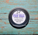 Paw Wax- For Dogs and Cats- Homemade Natural Balm - Feet and Nose - Mans best friend